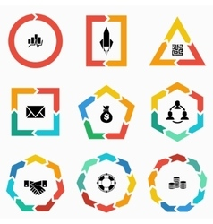 Geometric shapes arrows for infographic vector