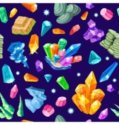 Stones Decoration Isometric Seamless Pattern vector image