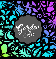 Abstract garden design leaf nature background vector