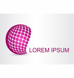 logo stylized spherical surface with abstract vector image