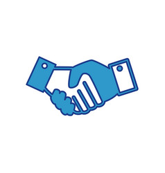 Deal handshake icon vector