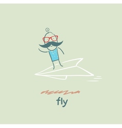 fly vector image