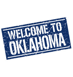 Welcome to oklahoma stamp vector
