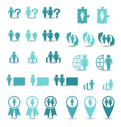 Set business icons management and human resources vector