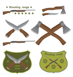 Set of different kinds of weapons vector