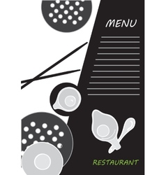 Cute menu card vector