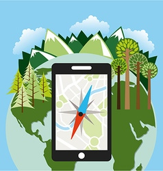 Gps technology vector