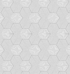 Slim gray striped hexagons forming tetrapods vector