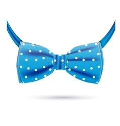 Blue bow tie vector
