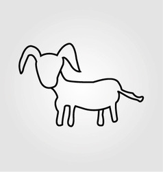 Goat isolated on a white background vector