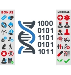 Genetic code icon vector