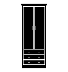 Cupboard wardrobe simple icon vector
