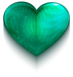 Turquoise heart symbol of love vector