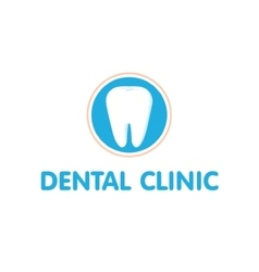 Dental clinic logo dantist vector