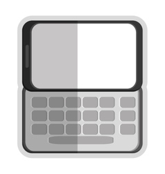 Slide cellphone with buttons icon vector