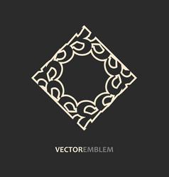 abstract rhomb emblem vector image vector image