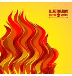 abstract wave fire vector image
