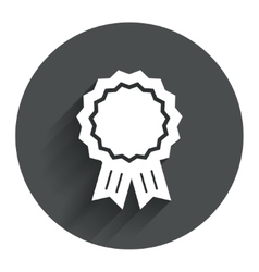 Award medal icon Best guarantee symbol vector image vector image