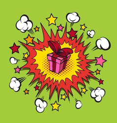 Boom presents surprise vector image vector image