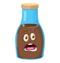 Cartoon Bottle vector image vector image