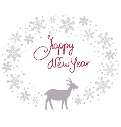 Christmas snow garland background with goat vector image vector image