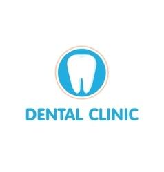 Dental clinic logo dantist vector
