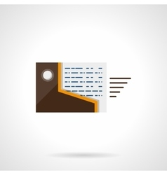Documents transfer flat color icon vector image