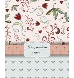Floral scrap booking paper vector