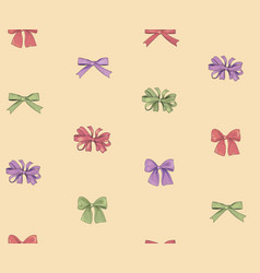 holiday decor seamless pattern fashionable bow vector image vector image