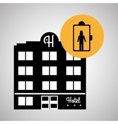 Hotel design travel icon Isolated and flat vector image