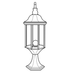 Lantern out line vector