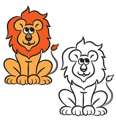 Lion coloring book vector