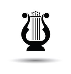 Lyre icon vector