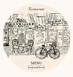 Menu food and drink vector