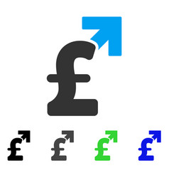 Pound growth flat icon vector
