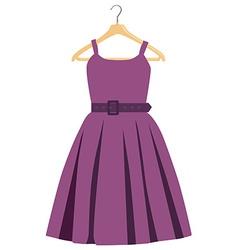 Purple dress vector image vector image