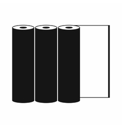 Rolls of paper icon simple style vector