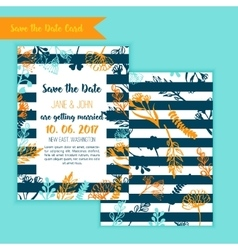 Save the date rustic vintage card wedding vector