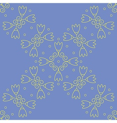 Seamless floral lilac wallpaper vector image vector image