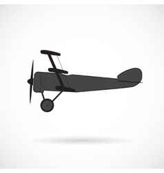 Silhouette retro plane times of world war i vector