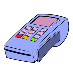 terminal for credit card icon cartoon vector image