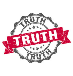 truth stamp sign seal vector image