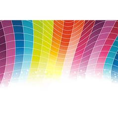 Colorful rainbow background - cells vector