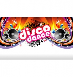 Disco dance background vector