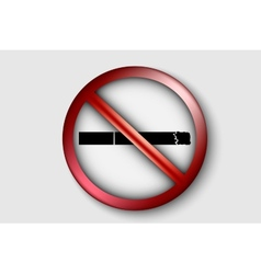 no smoking sign with a realistic cigarette vector image