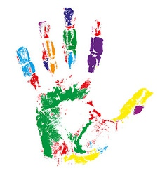 handprint 02 vector image