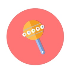 Flat design cute baby icon vector