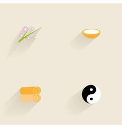 Abstract spa icons vector