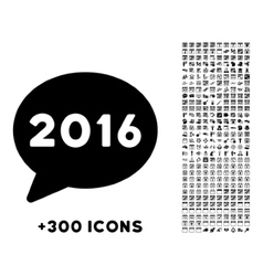 2016 message icon vector