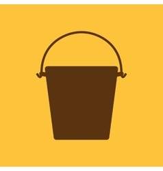 The bucket icon pail and bucketful symbol flat vector